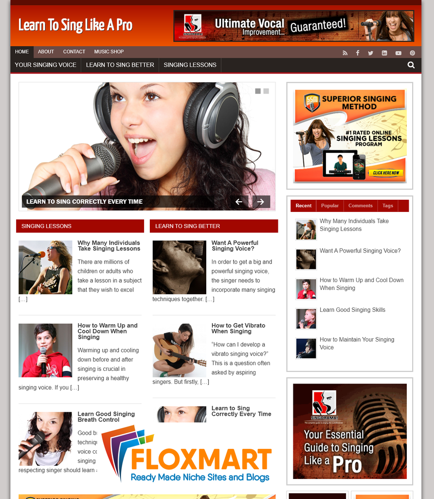 Learn to Sing PLR Blog - Floxmart