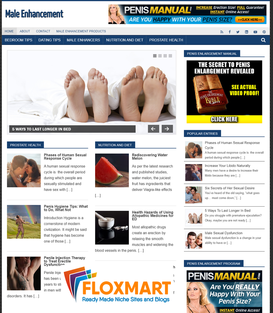 Male Enhancement PLR Blog - Floxmart