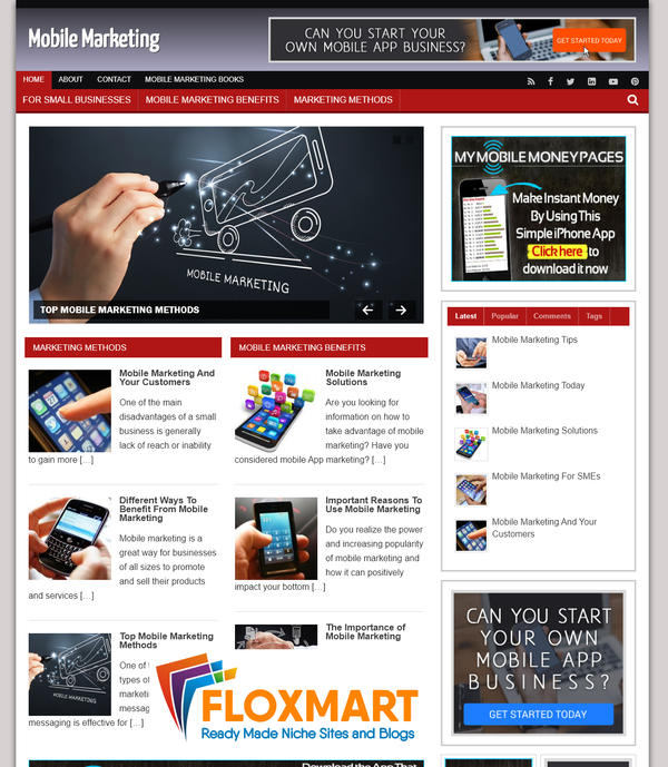 Mobile Marketing Turnkey Website - Floxmart