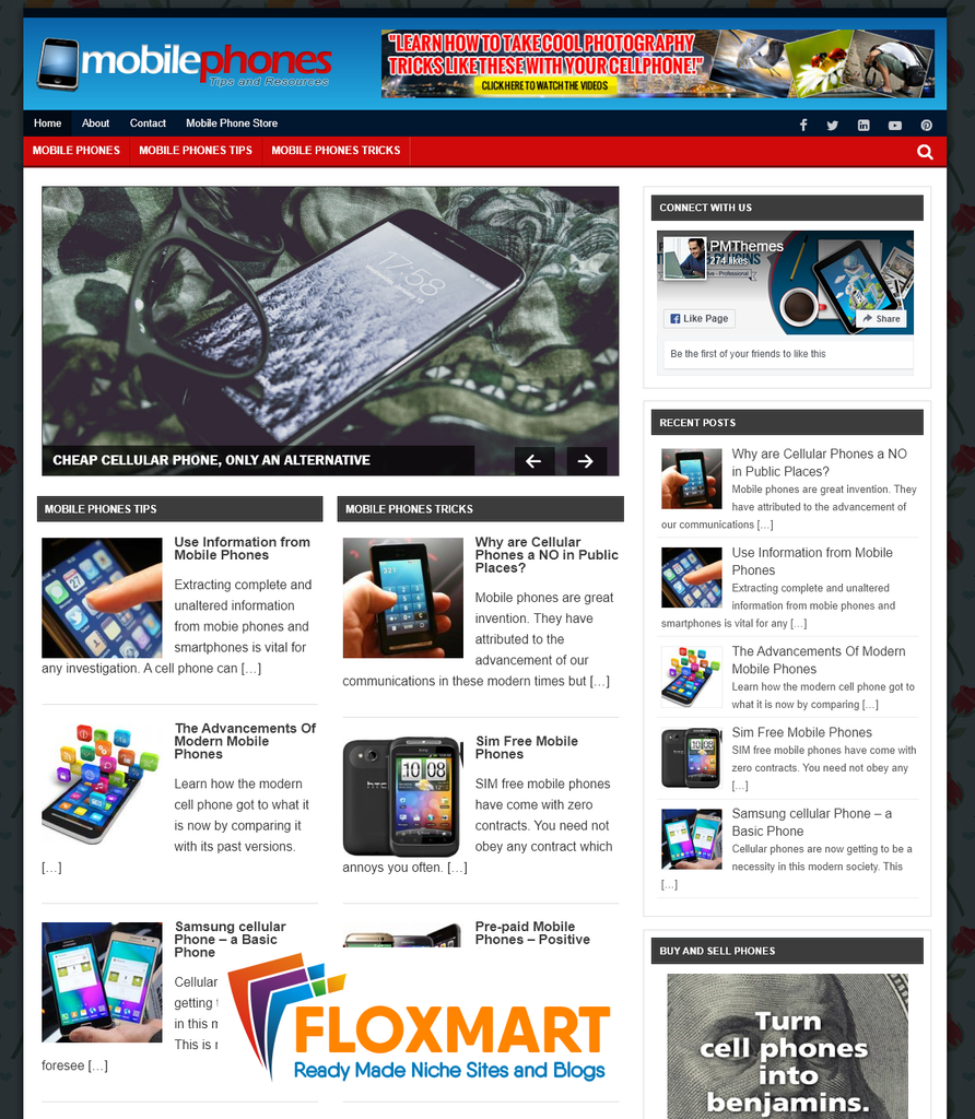 Mobile Phones PLR Niche Blog - Floxmart