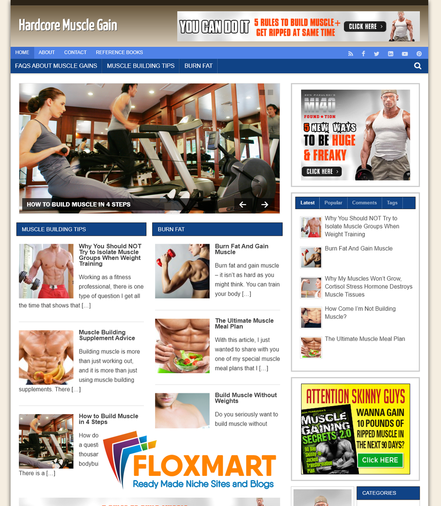 Muscle Gaining Niche Site - Floxmart