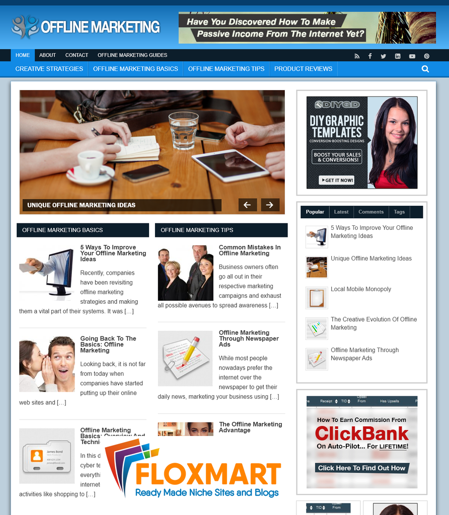 Offline Marketing Premium Turnkey Blog - Floxmart