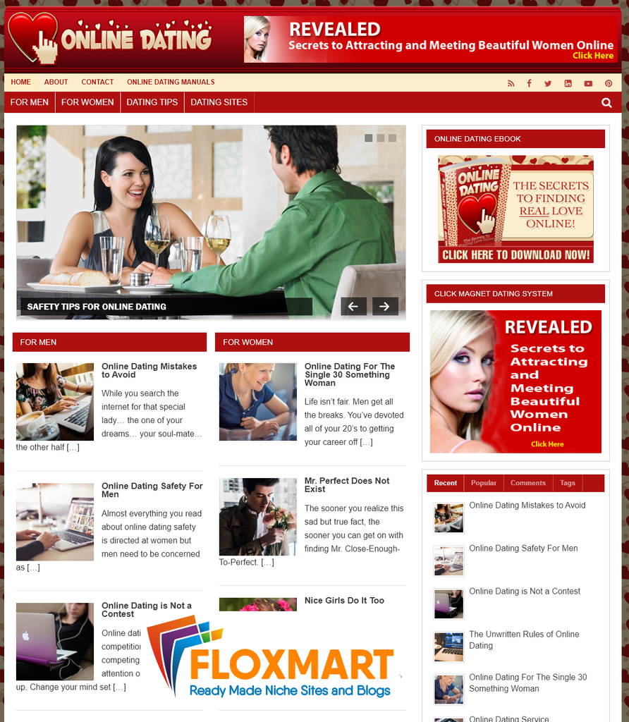 Online Dating Niche PLR Blog - Floxmart
