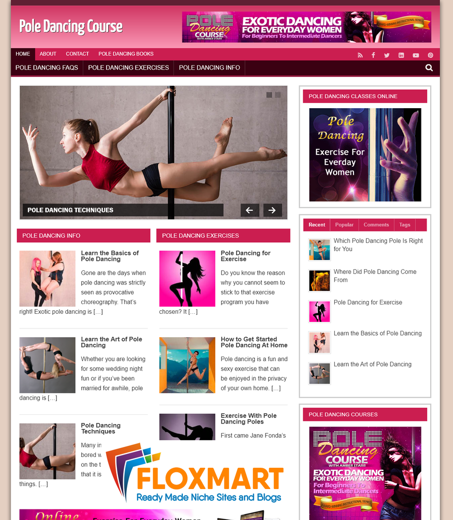 Pole Dancing PLR Site - Floxmart
