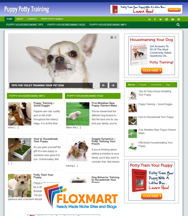 Puppy Potty Training PLR Site - Floxmart
