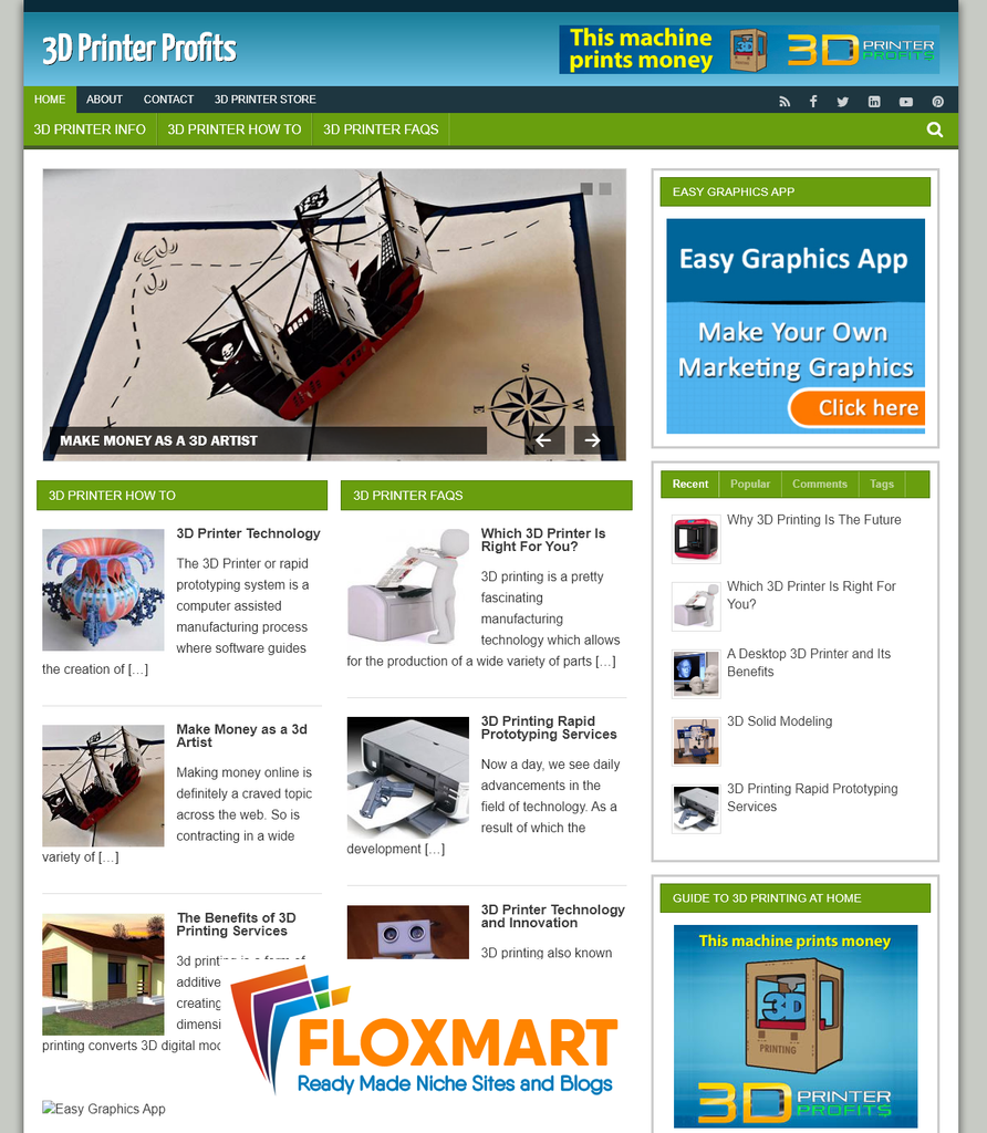 3D Printer Profits Ready Made Blog - Floxmart