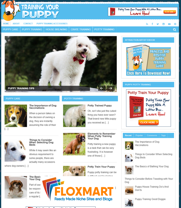 Puppy Training PLR Website - Floxmart