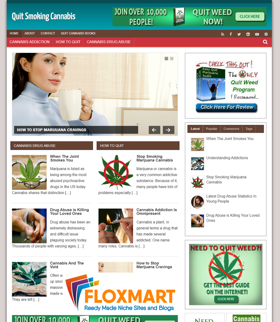 Quit Smoking Cannabis PLR Site - Floxmart