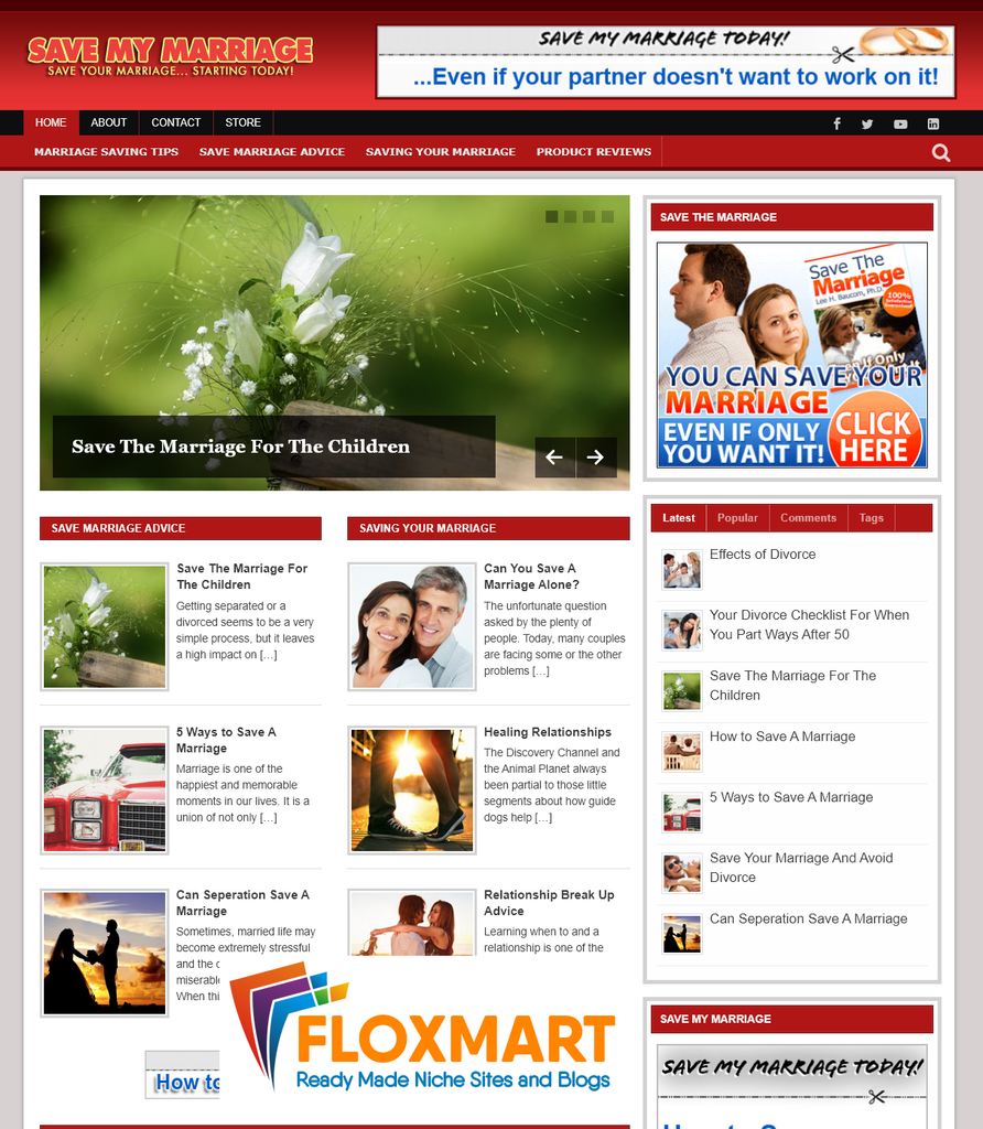 Save My Marriage PLR Blog Package - Floxmart