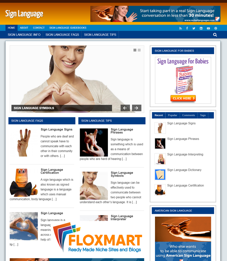 Sign Language Ready Made Website - Floxmart