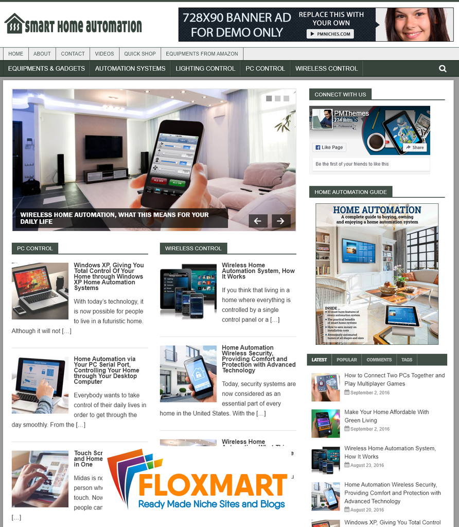 Smart Home Automation Niche PLR Blog - Floxmart