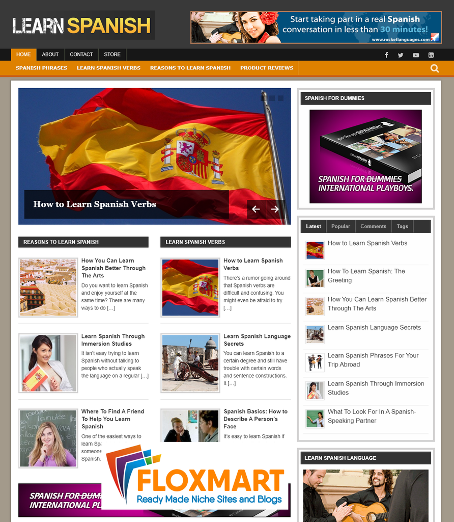 Learn Spanish PLR Niche Blog - Floxmart