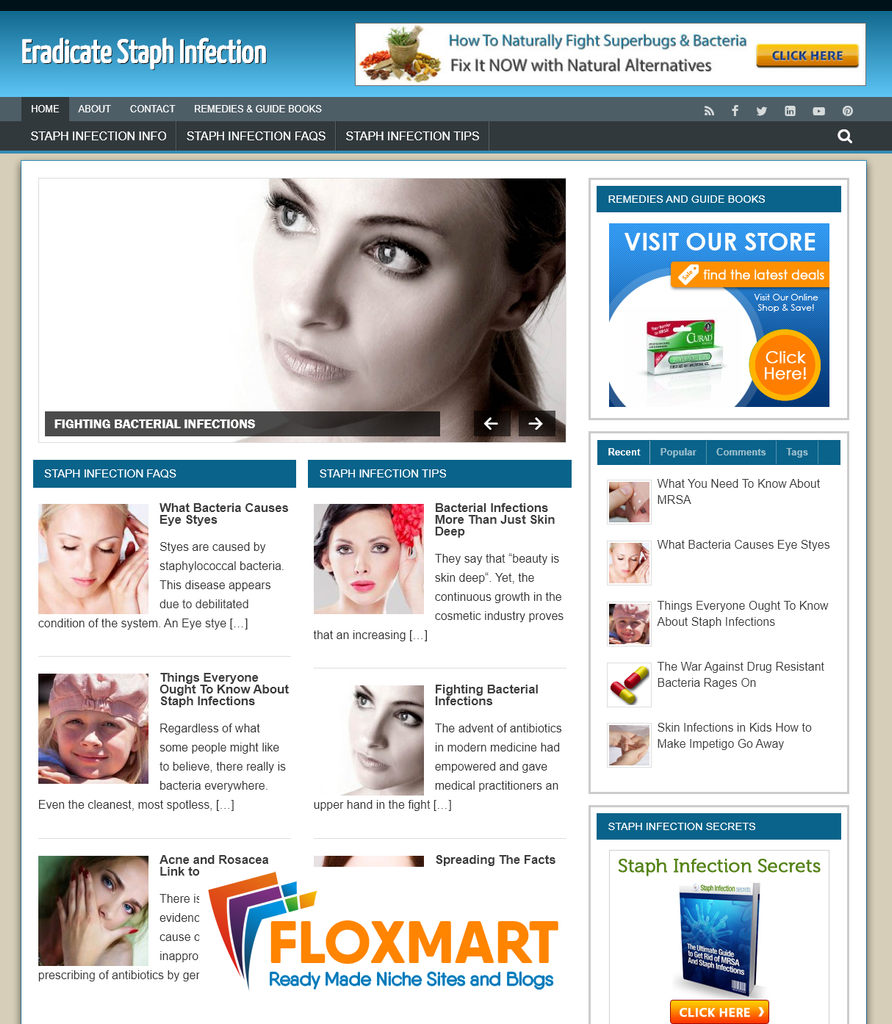 Staph Infection Turnkey Site - Floxmart