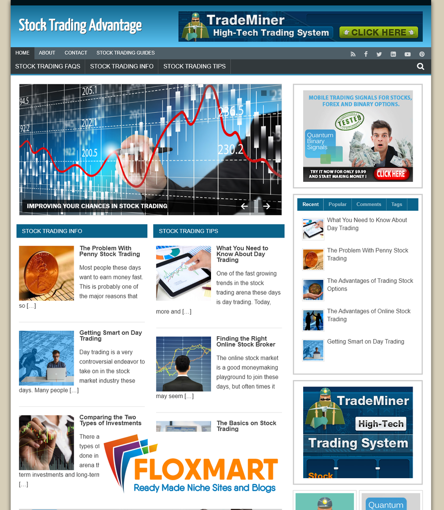 Stock Trading Ready Made Site - Floxmart