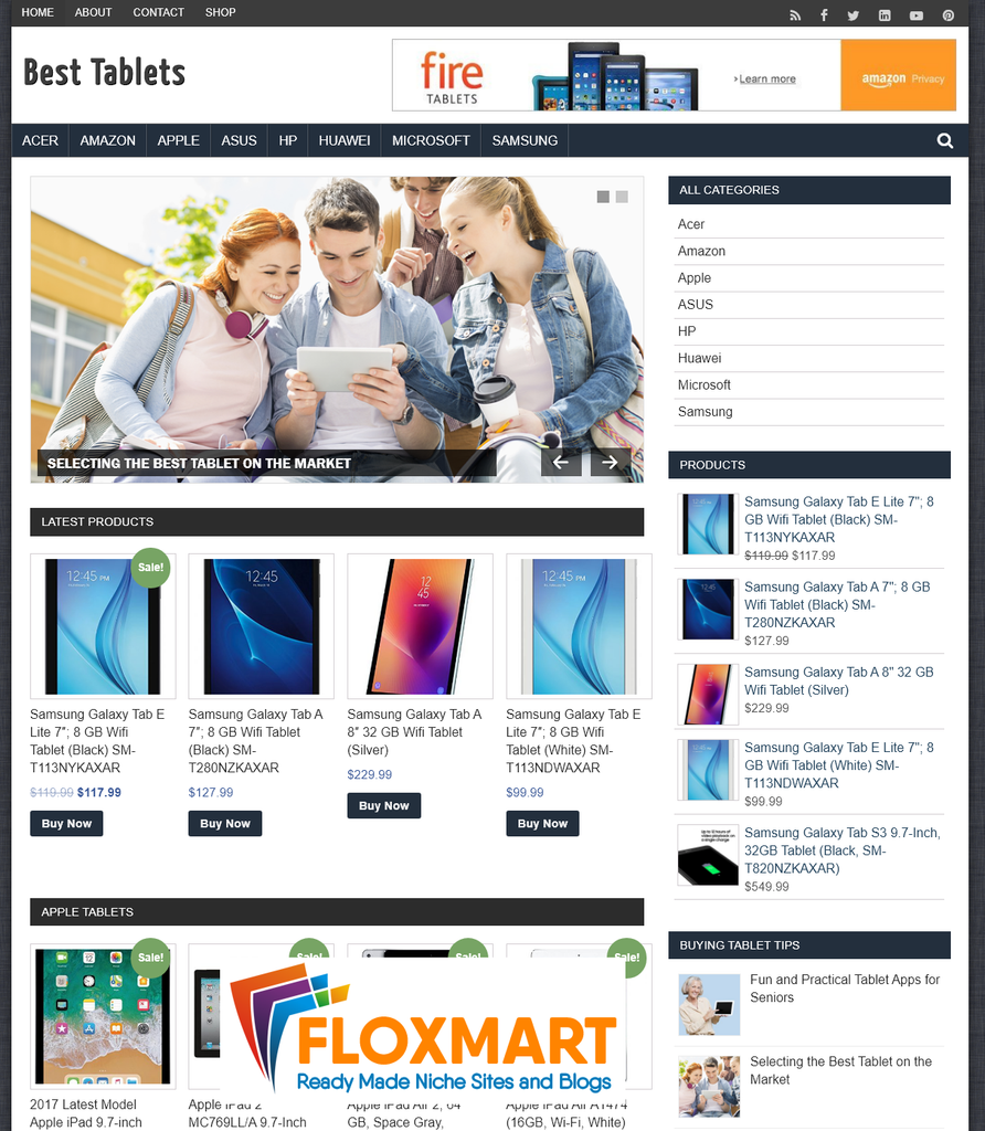 Best Tablets Amazon Affiliate Site - Floxmart