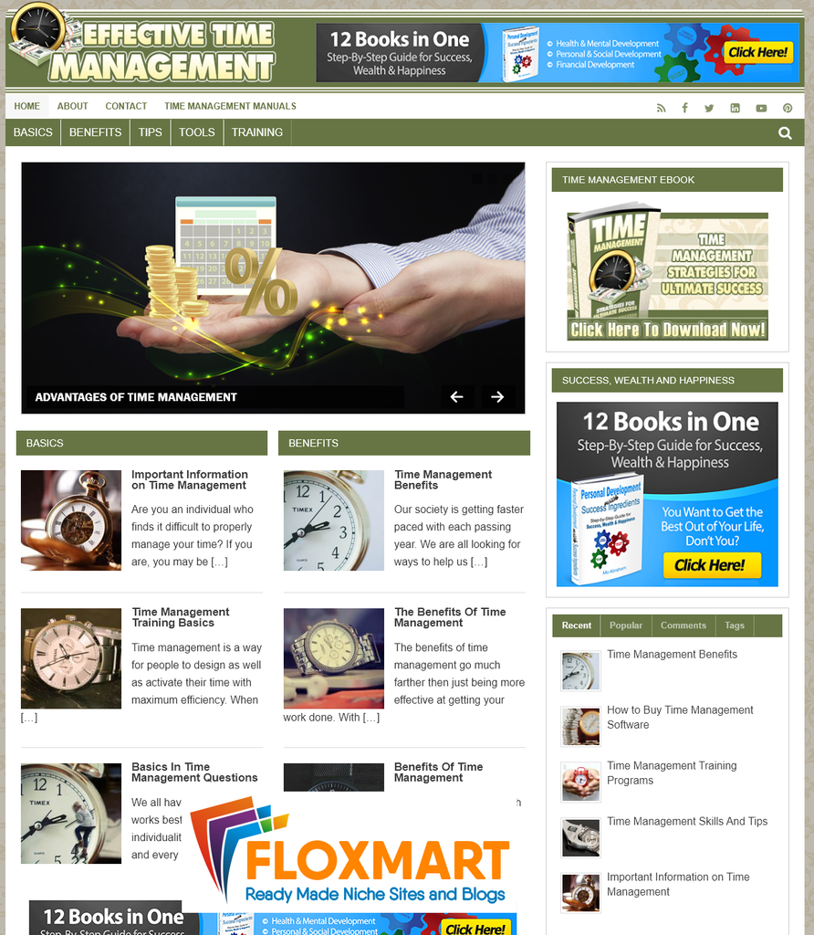 Time Management PLR Site - Floxmart