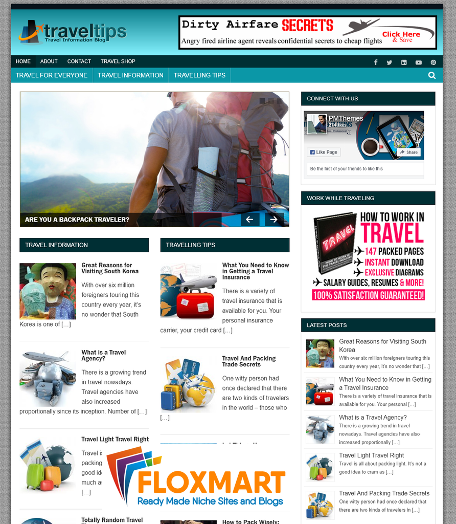 Travel Niche – Ready Made Blog - Floxmart