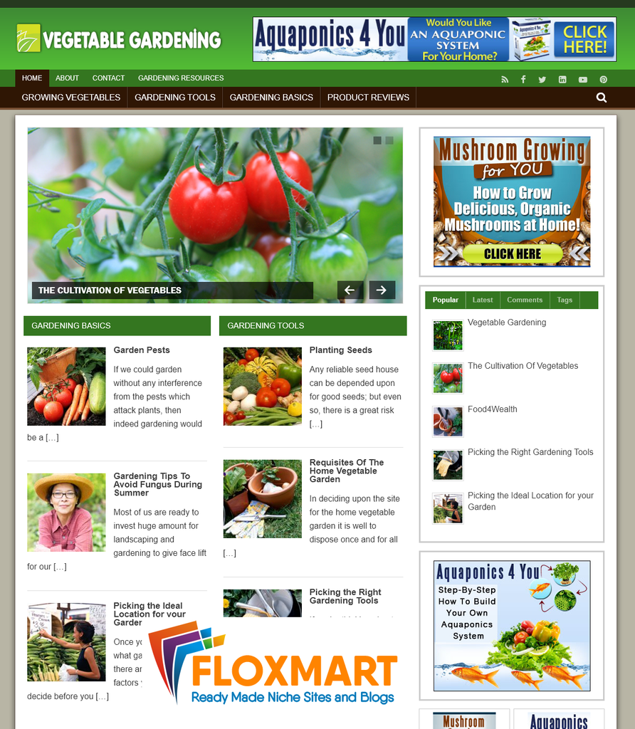 Vegetable Gardening Niche PLR Blog - Floxmart