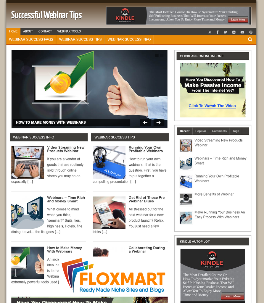 Webinar Tips Turnkey PLR Blog - Floxmart