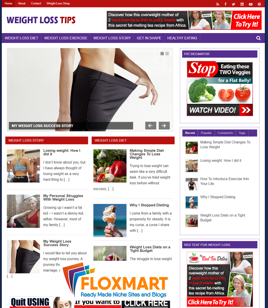 Weight Loss Tips Done-for-you PLR Blog - Floxmart