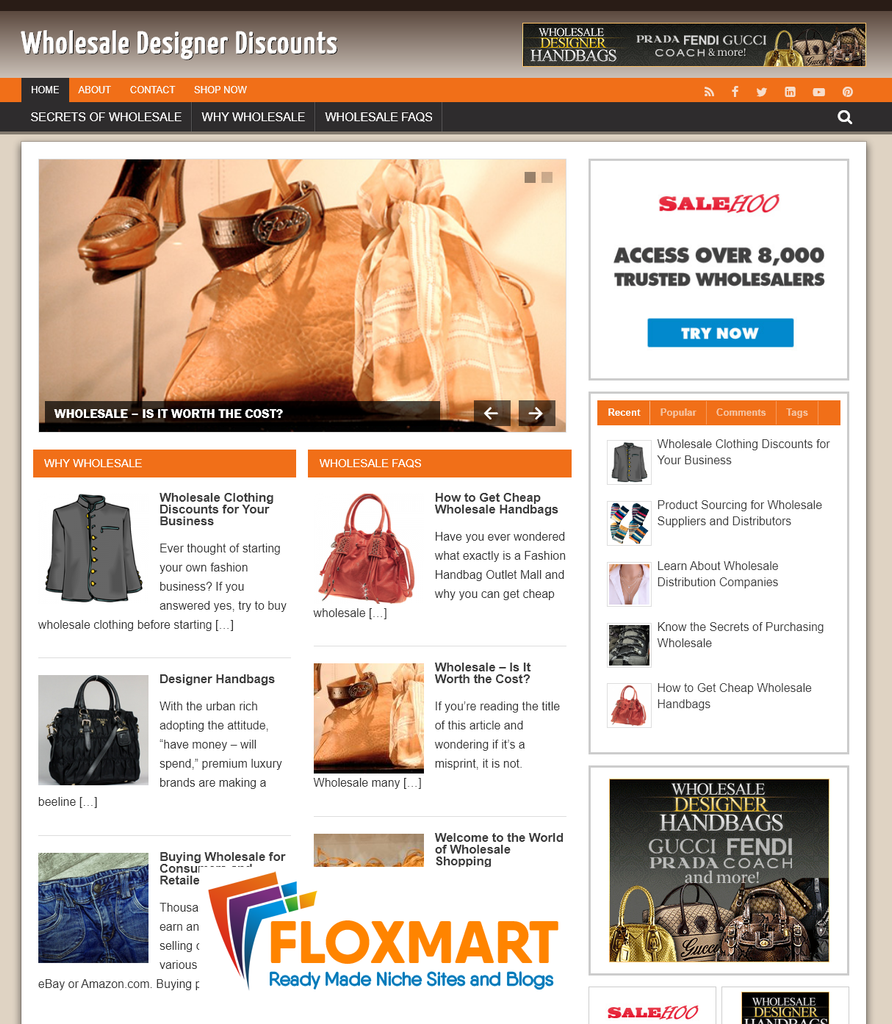 Wholesale Designer Discounts Turnkey Website - Floxmart