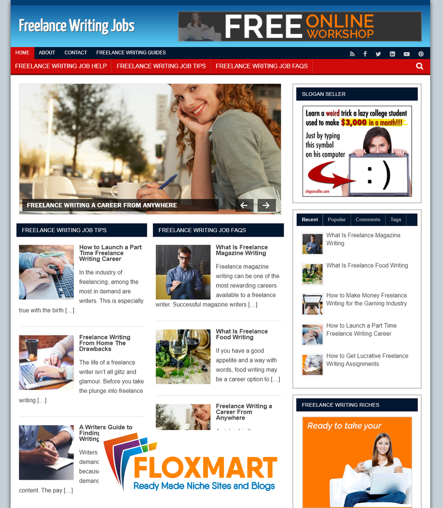 Freelance Writing PLR Site - Floxmart