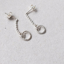 Load image into Gallery viewer, dangling silver ear studs mezereem jewelry