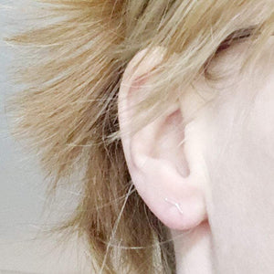 v shaped ear studs