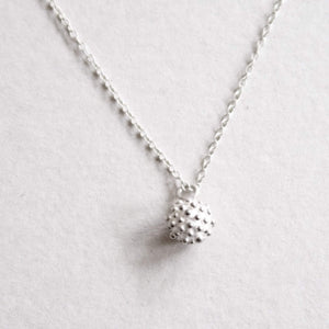 silver dots necklace