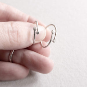 silver recycled ring mezereem jewelry