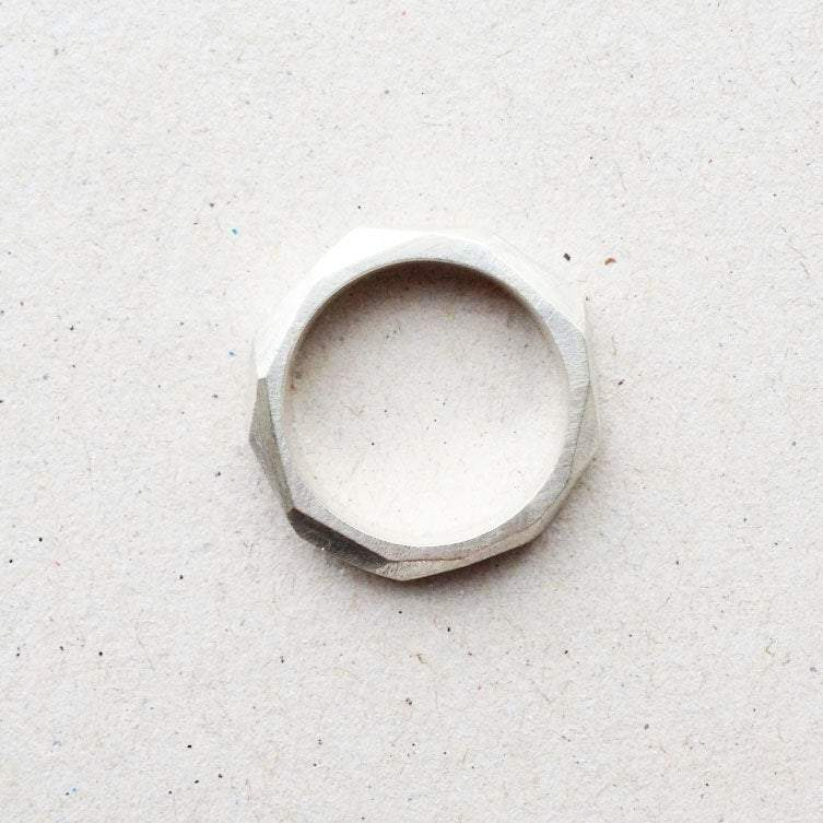 facet ring from side
