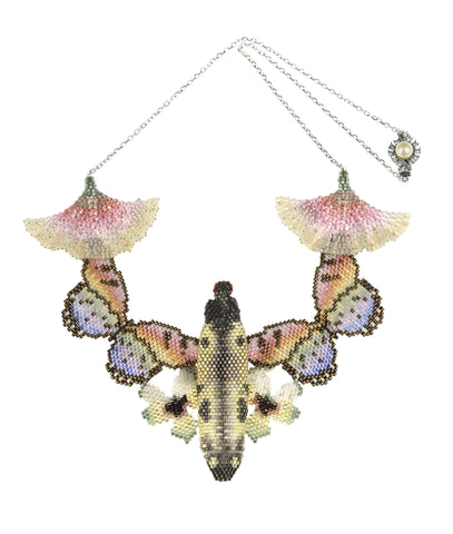 Multi-beaded Bug Butterfly Flower Necklace