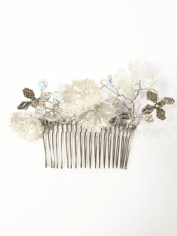 Silver Orange Blossom Comb