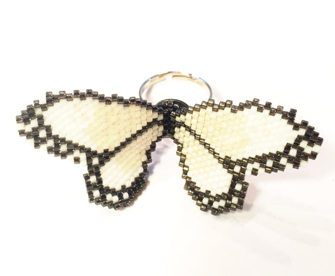 Cream Butterfly Ring