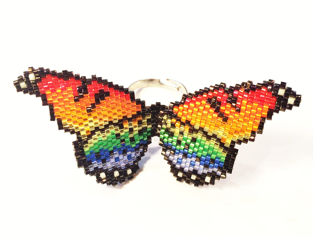 Rainbow Butterfly Ring
