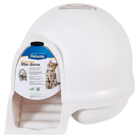 Petmate Booda Dome Cleanstep Litter Box - White