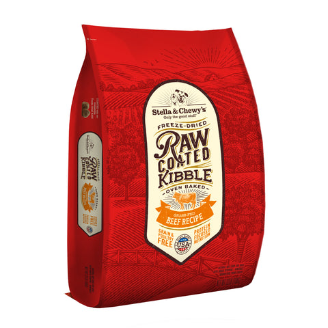 Stella & Chewy's - Grass-Fed Beef Raw Coated Kibble Dry Dog Food (1.6kg/10kg)
