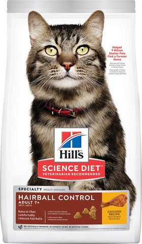 Hill's Science Diet Adult 7+ Hairball Control Dry Cat Food (1.5kg)