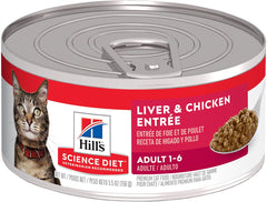 Hill's Science Diet Adult Liver & Chicken Entrée Canned Cat Food (155g)