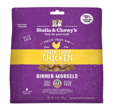 Stella & Chewy's - Chick, Chick Chicken Freeze-Dried Raw Dinner Morsels Dry Cat Food (2 sizes)