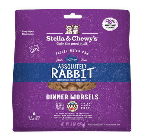 Stella & Chewy's - Absolutely Rabbit Freeze-Dried Raw Dinner Morsels Dry Cat Food (227g)