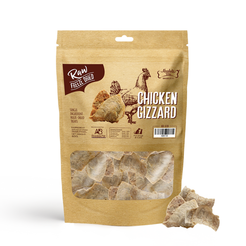 Absolute Bites Freeze Dried Raw Chicken Gizzard Dog & Cat Treats (65g)