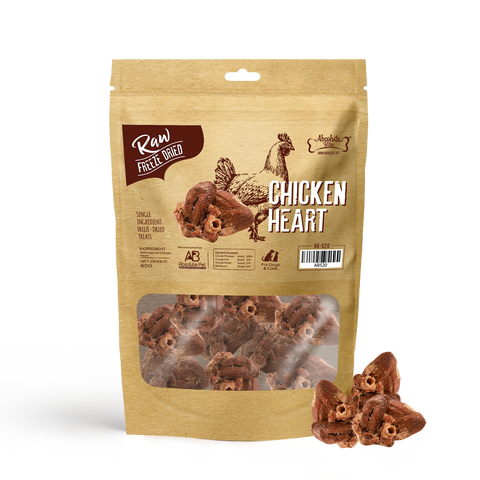 Absolute Bites Freeze Dried Raw Chicken Heart Dog & Cat Treats (65g)