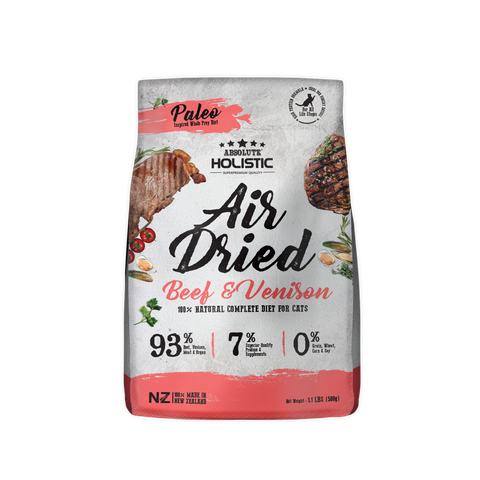 Absolute Holistic Air Dried Cat Food - Beef & Venison (500g)