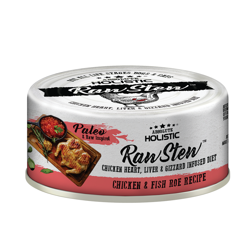 Absolute Holistic Rawstew Dog & Cat Canned Food - Chicken & Fish Roe