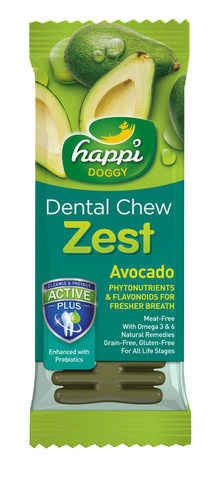Happi Doggy Dental Chew Zest Avocado 4''