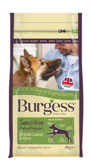 Burgess Sensitive British Lamb Dry Dog Food (2kg)
