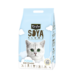 Kit Cat Soya Clump Cat Litter (7L) - Baby Powder