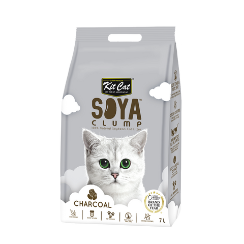 Kit Cat Soya Clump Cat Litter (7L) - Charcoal
