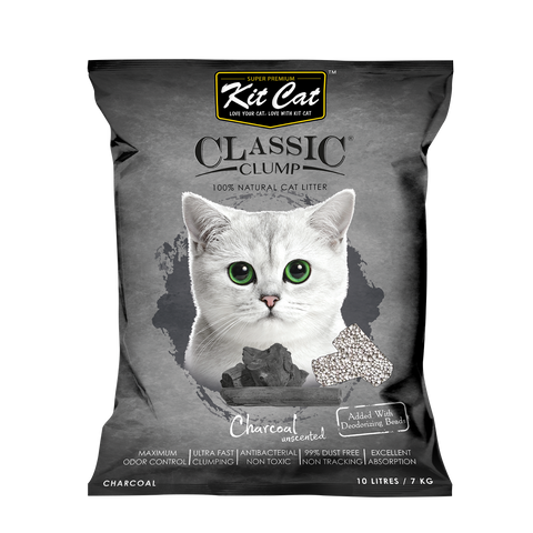 Kit Cat Classic Clump Cat Litter (10L/7kg) - Charcoal